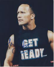 THE ROCK - ACTOR/PRODUCER/PRO WRESTLER - WWE SEVENTEEN CHAMPIONSHIP REIGNS - Signed 8x10 Color Photo