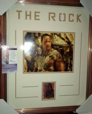 The Rock Dwayne Johnson Scorpion King Signed Autograph Matted & Framed Jsa Coa A