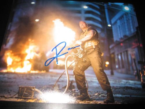 THE ROCK SIGNED AUTOGRAPH 8x10 PHOTO FAST AND THE FURIOUS PROMO PHOTO COA AUTO E