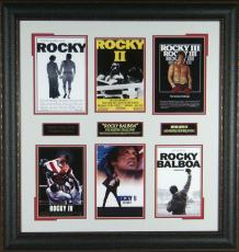 The Rocky Collection - Sylvester Stallone Framed Movie Displ