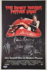 THE ROCKY HORROR PICTURE SHOW Cast Signed 11x17 Movie Poster Beckett BAS COA