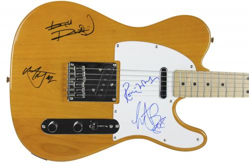 The Rolling Stones (4) Jagger, Richards, Wood & Watts Signed Guitar PSA #Y00150