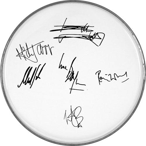 The Rolling Stones Autographed Facsimile Signed Clear Drumhead Mick Jagger +5