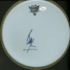 The Rolling Stones Bill Wyman Signed Autographed 10 inch Drum Head JSA