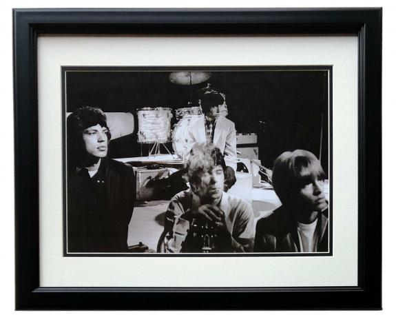 The Rolling Stones Framed Rare 1960's 12x17 High Quality Photo