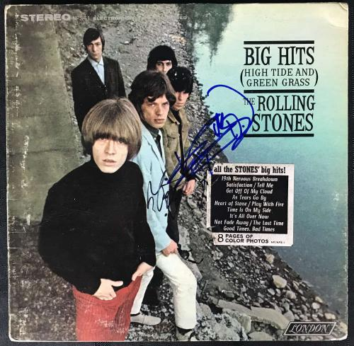 The Rolling Stones Keith Richards Mick Jagger Signed Album Beckett BAS