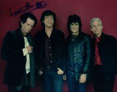 The Rolling Stones Keith Richards Ron Wood Charlie Watts Signed Photo AFTAL UACC
