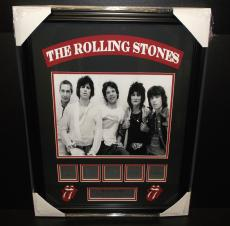 The Rolling Stones Mick Jagger Engraved Signature Plates Photo Framed