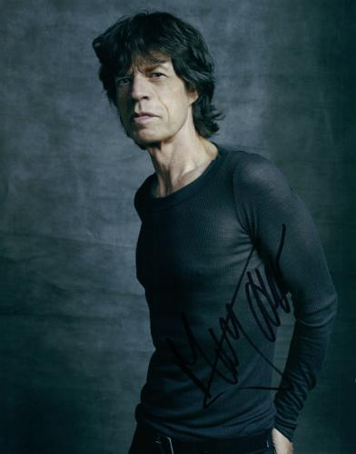 The Rolling Stones Mick Jagger Stunning Autographed Signed Photo AFTAL UACC RD