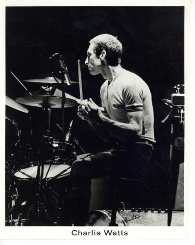 The Rolling Stones Original Tour of the Americas' 75 Charlie Watts 8x10 Photo