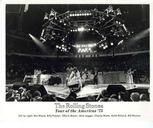 The Rolling Stones Original Tour of the Americas' 75 Keith Richards 8x10 Photo