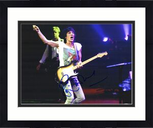 The Rolling Stones Ronnie Wood Autographed 11x14 Photograph PSA DNA COA