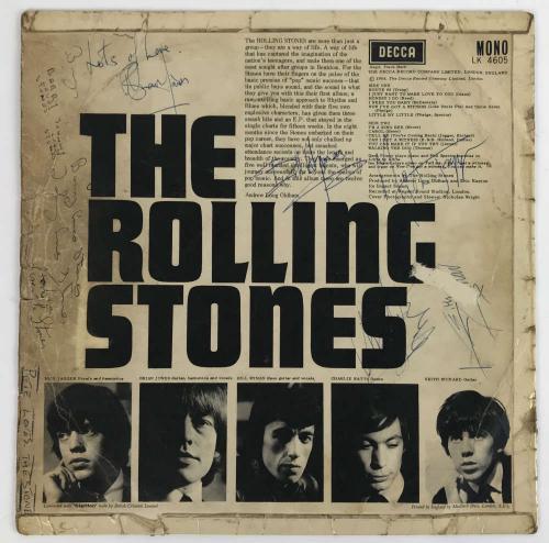 The Rolling Stones Signed Autographed Debut Album Richards Jones Jagger Beckett