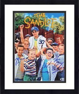The Sandlot (6) Guiry, Leopardi, Adams +3 Signed 11x14 Photo BAS Witnessed 6