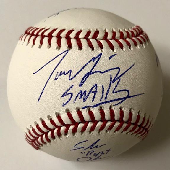 The Sandlot Cast Signed x6 OMLB Baseball Guiry York Leopardi DiMattia BAS COA B