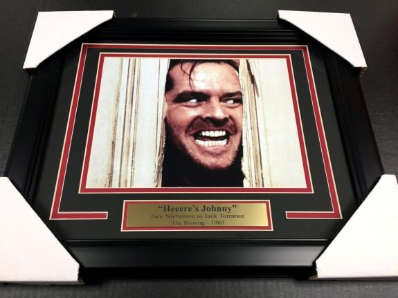 The Shining Jack Nicholson Framed 8x10 Photo Heere's Johnny