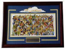 The Simpsons 11x20 framed photo Homer Bart Simpson Fox