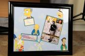 The Simpsons Display – Matt Groening Signed Index Card with Hand Drawn Sketch of Bart