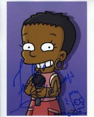 The Simpsons Fantasia & Matt Groening Autograph Signed 8x10 Photo Authentic JSA