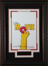 The Simpsons Movie - Matt Groening Autographed 11x17 Poster