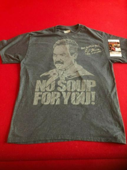 "The Soup Nazi, (Larry Thomas) ""Autographed"" (JSA) T-Shirt (Seinfeld)"