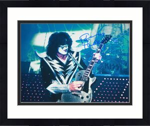 THE SPACEMAN Tommy Thayer signed 11 x 14, KISS, Black 'n Blue, Proof, COA
