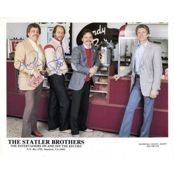 The Statler Brothers Autographed 8x10 Photo
