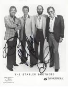 """THE STATLER BROTHERS"""" Signed by HAROLD REID, DON REID, and PHIL BALSLEY - Hits Include """"FLOWERS on the WALL"""", """"THE CLASS of '57"""", and """"I'LL GO to my GRAVE LOVING YOU"""" Signed by all Three 8x10 B/W Photo"""