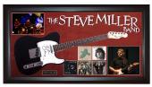 The Steve Miller Band Signed Guitar + Display Shadowbox Case PSA AFTAL UACC RD