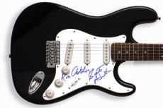The Stooges Autographed Signed Guitar & Proof PSA/DNA   AFTAL