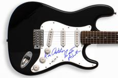 The Stooges Autographed Signed Guitar & Proof PSA/DNA   AFTAL