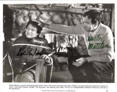 "THE SURVIVORS"" Signed by WALTER MATTHAU as SONNY PALUSO and ROBIN WILLIAMS as DONALD QUINELLE 10x8 B/W Photo"