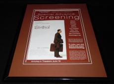 The Terminal 2004 Framed 11x14 ORIGINAL Vintage Advertisement Tom Hanks