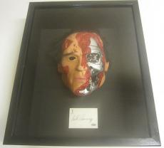 The Terminator Arnold Schwarzenegger Signed Autographed Cut W/ Mask Framed PAAS