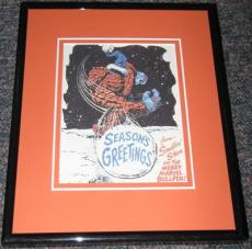 The Thing 1965 Marvel Christmas Card Framed Official Reproduction