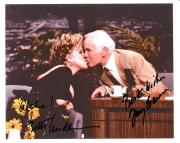 "THE TONIGHT SHOW"" Signed by JOHNNY CARSON and BETTE MIDLER - JOHNNY Passed Away in 2005 Signed 10x8 Color Photo"