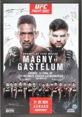 """The Ultimate Fighter Latin America Team Magny vs. Team Gastelum Season 2 Finale Framed Autographed 27"""" x 39"""" 26-Signature Event Poster"""