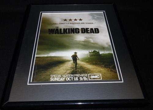 The Walking Dead 2011 Framed 11x14 ORIGINAL Vintage Advertisement Andrew Lincoln