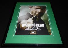 The Walking Dead 2012 Framed 11x14 ORIGINAL Vintage Advertisement Andrew Lincoln