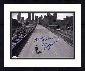 The Walking Dead (3) Kirkman, Nicotero & Wilson Signed 11X14 Photo PSA #V20431
