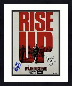 THE WALKING DEAD Cast Signed 11x14 Photo REEDUS Ogg Gilliam (A)~ Beckett BAS COA