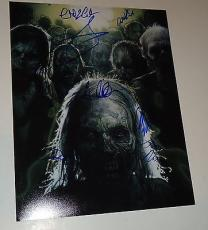 The Walking Dead cast signed 11x14 poster photo W/coa Riggs - Coleman- #1