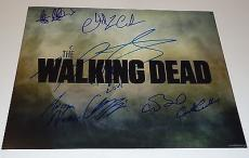 The Walking Dead cast signed 11x14 poster photo W/coa Riggs - Coleman- #2