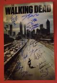 The Walking Dead Cast Signed Autographed 12x18 Poster 14 Sigs + Sketch Lincoln C