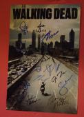 The Walking Dead Cast Signed Autographed 12x18 Poster 15 Sigs + Sketch Lincoln