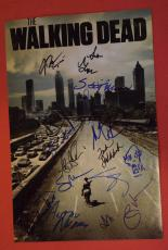 The Walking Dead Cast Signed Autographed 12x18 Poster 17 Sigs + Sketch Lincoln E