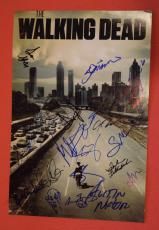 The Walking Dead Cast Signed Autographed 12x18 Poster 19 Sigs + Sketch Lincoln D