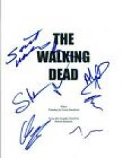 THE WALKING DEAD Cast Signed Autographed Pilot Script Norman Reedus +6 COA VD