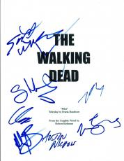 THE WALKING DEAD Cast Signed Autographed Pilot Script Norman Reedus +7 COA VD