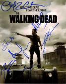 The Walking Dead Cast X7 Autographed 11x14 Poster Photo AFTAL UACC RD COA